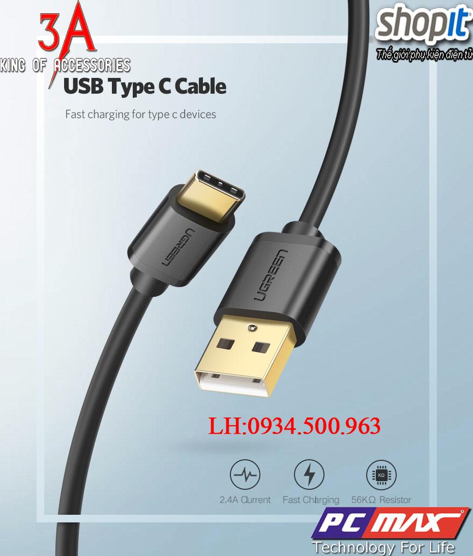 Cáp chuyển đổi USB 2.0 to USB 3.1 Type-C chính hãng Ugreen 30167 cao cấp