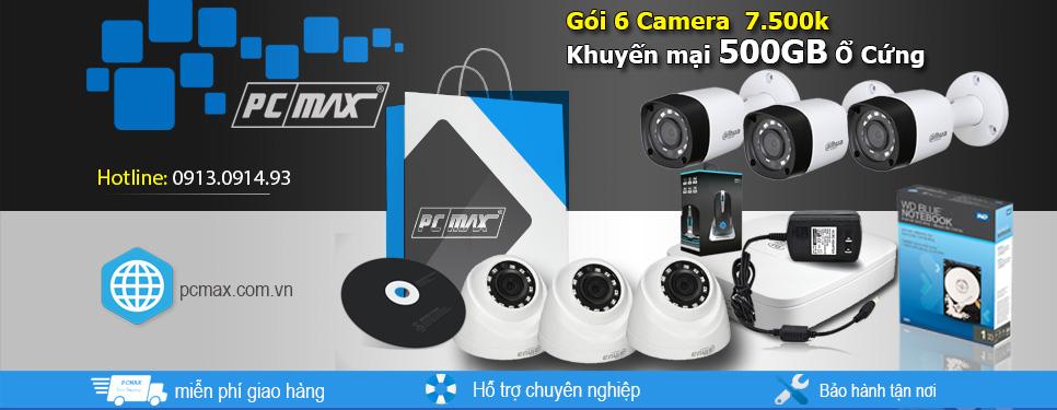 Gói lắp đặt camera quan sát 6 camera tại Phú Quốc