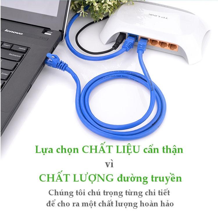 Cáp mạng Cat6 UTP Patch Cords đúc sẵn dài 5m chính hãng Ugreen 11204