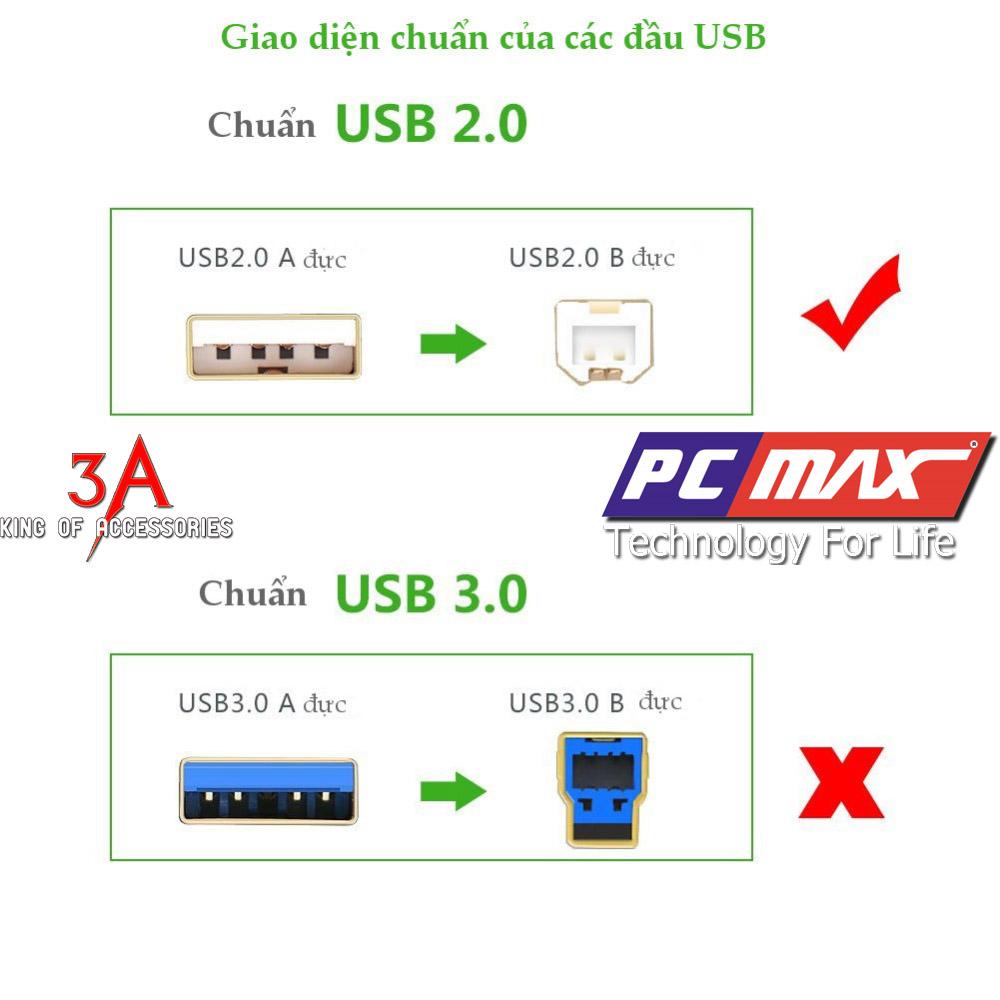 Cáp máy in usb 2.0 dài 1.5m chính hãng Ugreen 10350 chất lượng cao