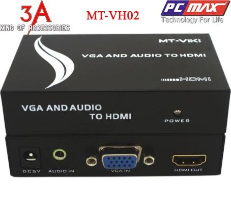 Vga to hdmi adapter bộ chuyển đổi vga sang hdmi chính hãng MT-Viki MT-VH02