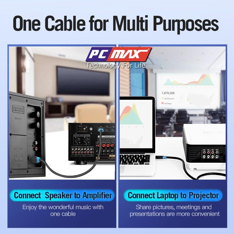 Cáp HDMI 2.0 4k chống nhiễu mạ vàng PCMAX dài 1,5m PCM-201- Hàng Chính Hãng