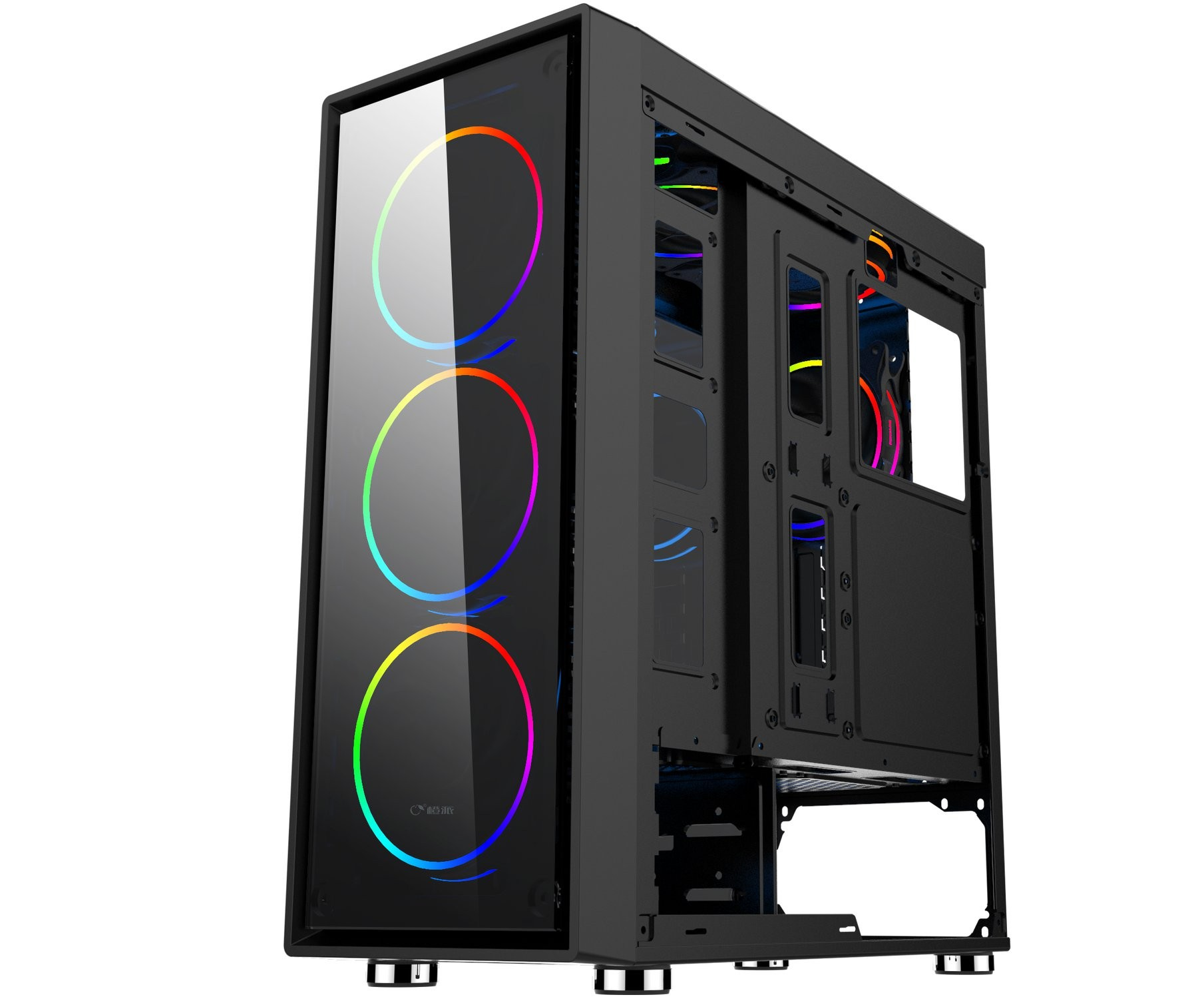 CASE máy tính FORGAME MIRAGE 2000 FULL ATX hỗ trợ 9 fan TEMPERED GLASS FRONT PANEL