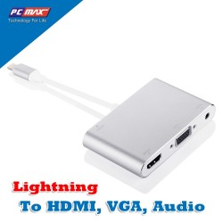 Lightning sang HDMI, VGA, Audio sử dụng cho Iphone 5, đến Iphone XS, ipad