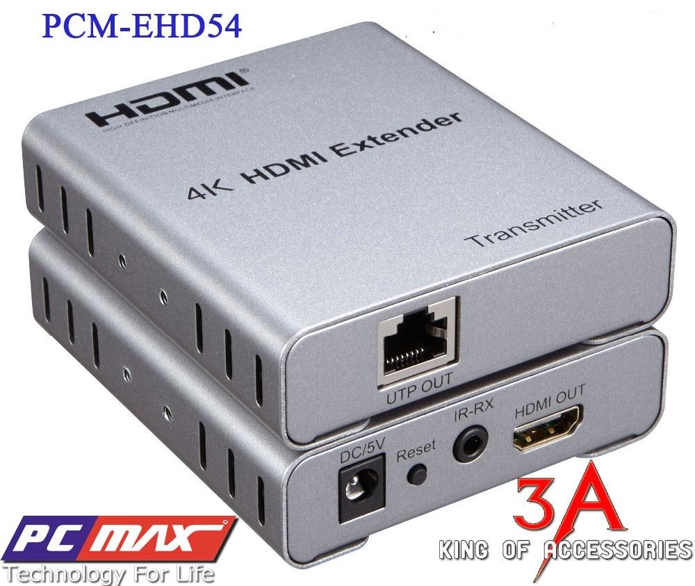Bộ khuếch đại , kéo dài HDMI hỗ trợ 2k x 4k qua cáp mạng 50m PCMAX PCM-EHD54