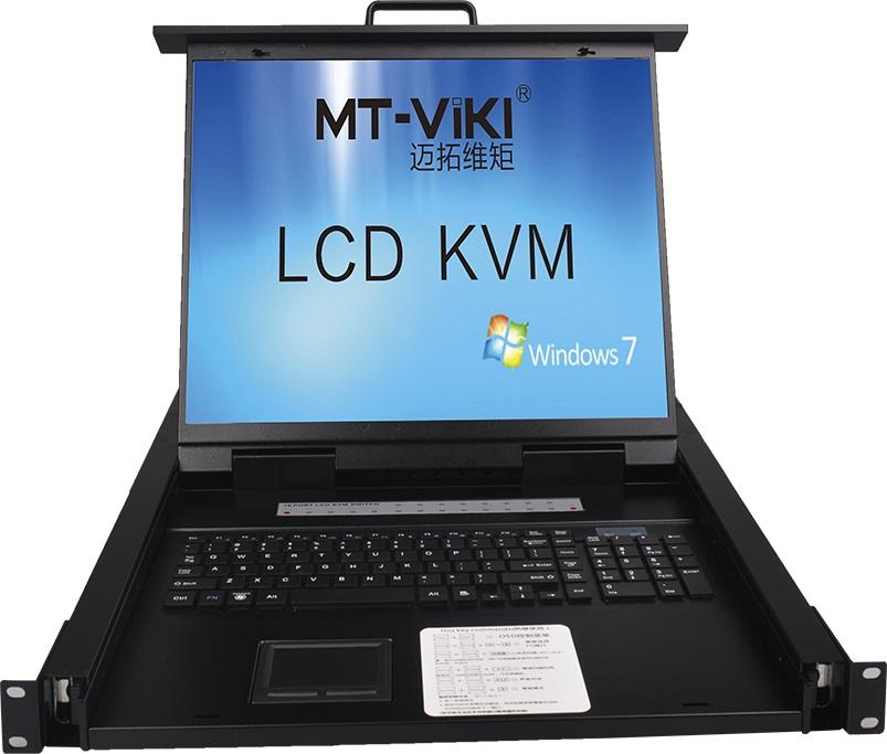 Bộ Switch KVM 8 cổng VGA kèm màn hình LCD 19 inch chính hãng MT-Viki MT-1908UL